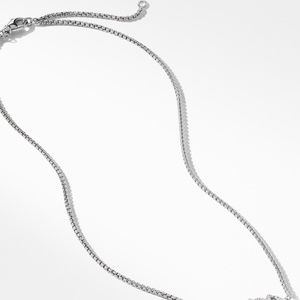 Crossover Single Station Necklace  with Diamonds alternative image
