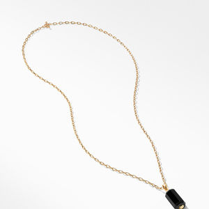 Barrels Pendant Necklace with Diamonds and Black Onyx in 18K Gold alternative image