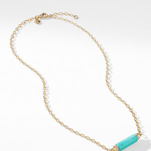 Barrels Single Station Necklace with Amazonite and Diamonds in 18K Gold alternative image