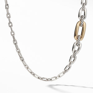 Wellesley Link Long Necklace with 18K Gold