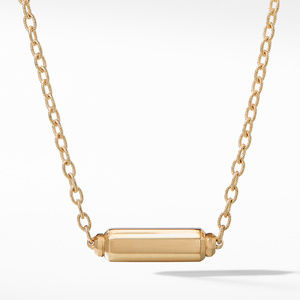 Barrels Station Necklace with Diamonds in 18K Gold alternative image