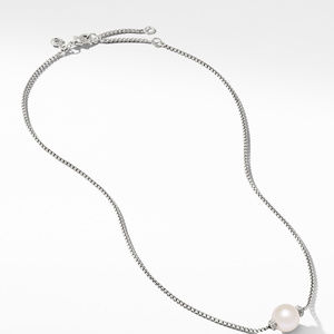 Solari Pendant Necklace with Diamonds and Freshwater Pearl alternative image