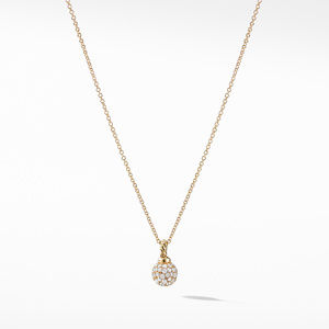 Petite Solari Pave Pendant Necklace with Diamonds in 18K Gold