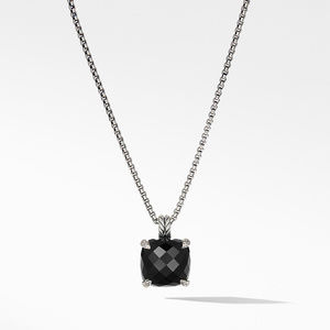 Chatelaine® Pendant Necklace with Black Onyx and Diamonds 1
