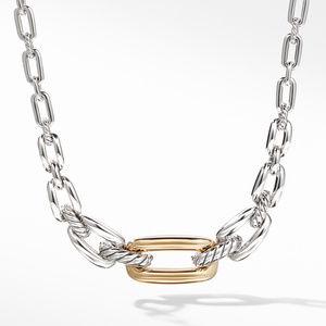 Wellesley Link Short Necklace with 18K Gold