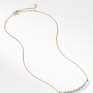 Paveflex Station Necklace with Diamonds in 18K Gold alternative image