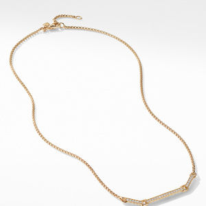 Petite Pavé Necklace with Diamonds in 18K Gold alternative image