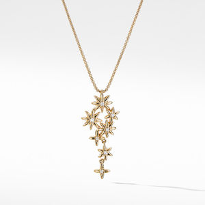 Starburst Constellation Pendant Necklace in 18K Gold with Diamonds