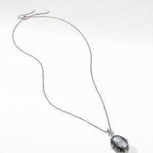 Chatelaine® Statement Pendant Necklace in Grey Orchid with Diamonds alternative image