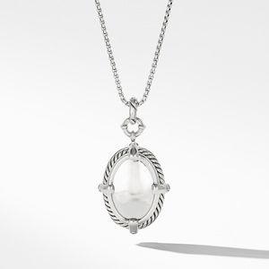 Chatelaine® Statement Pendant Necklace in Prasiolite with Diamonds alternative image