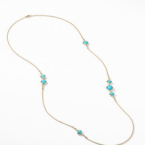 Chatelaine® Long Necklace in 18K Gold with Turquoise alternative image
