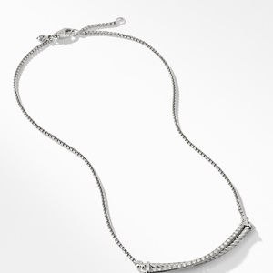 Crossover Bar Necklace with Diamonds alternative image