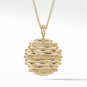 Tides Pendant Necklace in 18K Yellow Gold with Diamonds alternative image