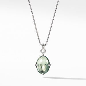 Chatelaine® Small Pendant Necklace with Prasiolite