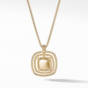 Chatelaine® Full Pavé Pendant Necklace in 18K Yellow Gold alternative image