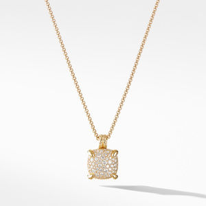 Chatelaine® Pendant Necklace with Diamonds in 18K Yellow Gold