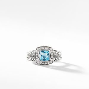 Petite Albion® Ring with Blue Topaz and Diamonds alternative image