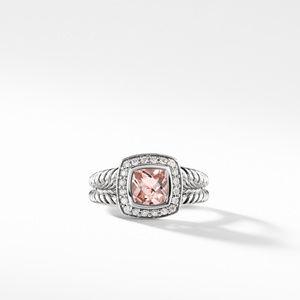 Petite Albion Ring with Morganite and Diamonds alternative image