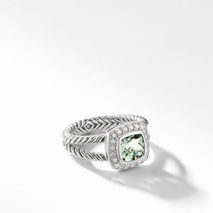 Petite Albion® Ring with Prasiolite and Diamonds