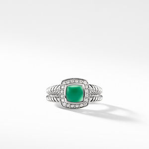 Petite Albion® Ring with Green Onyx and Diamonds alternative image