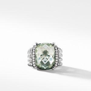 Ring with Prasiolite and Diamonds alternative image