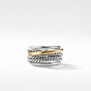 Crossover Narrow Ring with Gold alternative image
