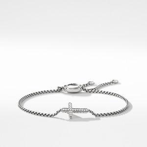 Pave Cross Bracelet with Diamonds