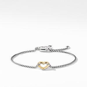 Heart Station Bracelet with 18K Gold
