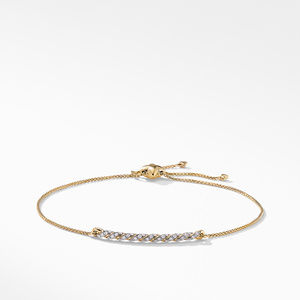 Pavéflex Station Bracelet with Diamonds in 18K Gold