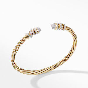 Helena End Station Bracelet in 18K Yellow Gold with Diamonds