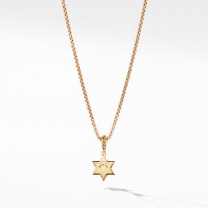 Star of David Pendant in 18K Yellow Gold with Diamonds alternative image