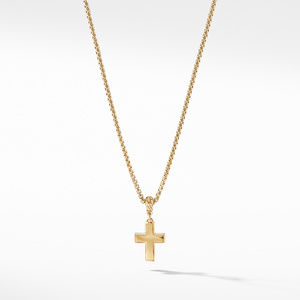 Cross Pendant in 18K Yellow Gold with Diamonds alternative image