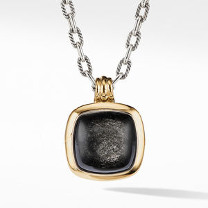 Albion® Pendant with Silver Obsidian and 18K Yellow Gold