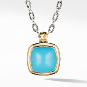 Albion® Pendant with Reconstitued Turquoise and 18K Yellow Gold