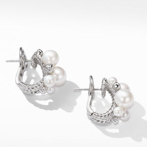 Pearl Cluster Earring with Diamonds alternative image