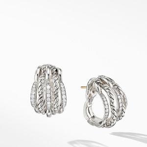 Tides Shrimp Earrings with Diamonds