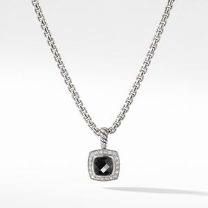 Pendant Necklace with Black Onyx and Diamonds