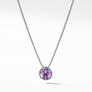 Chatelaine Pendant Necklace with Amethyst