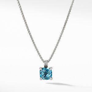 Pendant Necklace with Hampton Blue Topaz and Diamonds
