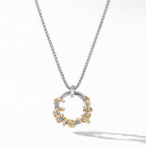 Cable Collectibles I Love You Pendant Necklace with 14K Yellow Gold
