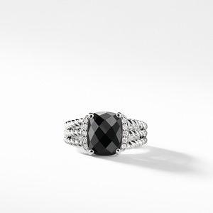 Petite Wheaton® Ring with Black Onyx and Diamonds alternative image