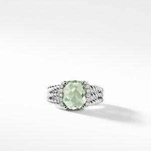 Petite Wheaton® Ring with Prasiolite and Diamonds alternative image