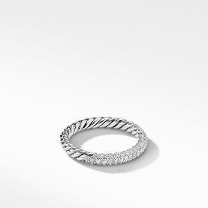 Petite Pavé Ring with Diamonds