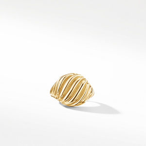 Cable Pinky Ring in Gold alternative image