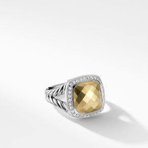 Ring with Gold Dome and Diamonds with 18K Gold