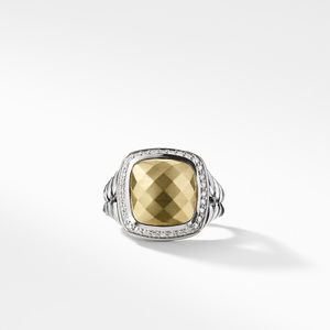 Ring with Gold Dome and Diamonds with 18K Gold alternative image