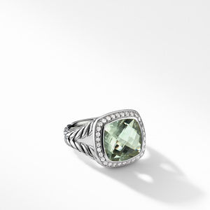 Albion® Ring with Prasiolite and Diamonds