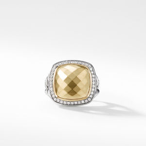 Ring with 18K Gold Dome and Diamonds alternative image