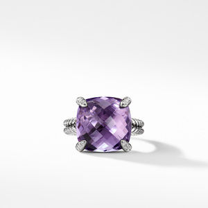 Ring with Amethyst and Diamonds alternative image