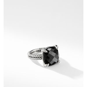 Chatelaine® Ring with Black Onyx and Diamonds 1